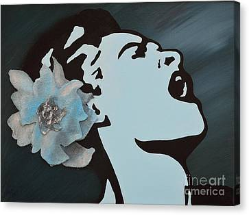 Billie Holiday Canvas Print by Alys Caviness-Gober