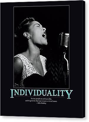 Billie Holiday Individuality   Canvas Print by Retro Images Archive