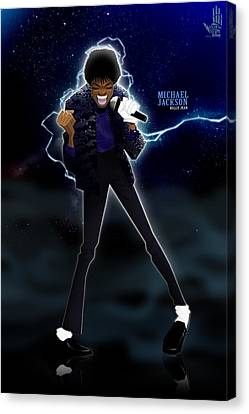 Canvas Print featuring the drawing Billie Jean by Nelson Dedos Garcia