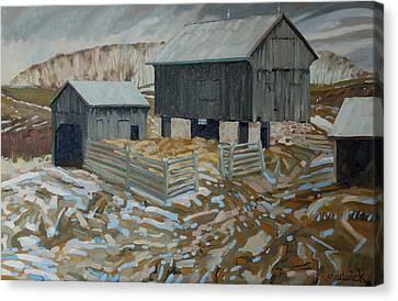 Bill's Barns Canvas Print by Phil Chadwick