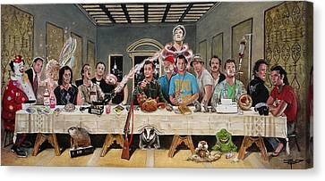 Bills Last Supper Canvas Print