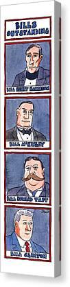 Taft Canvas Print - Bills Outstanding by Jack Ziegler