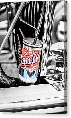 Billy Beer Hot Rod Canvas Print