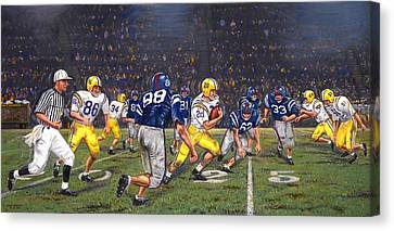 Billy Cannon's Halloween Heisman Haul Canvas Print by Mike Roberts