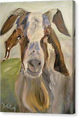 Canvas Print featuring the painting Billy by Donna Tuten