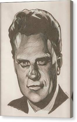 Billy Graham Drawing Canvas Print by Robert Crandall