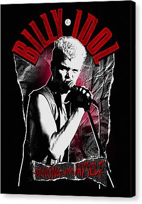 Billy Idol - Dancing With Myself Canvas Print by Epic Rights