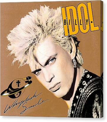 Billy Idol - Whiplash Smile 1986 Canvas Print by Epic Rights