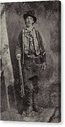 Billy The Kid C. 1879 Canvas Print by Daniel Hagerman