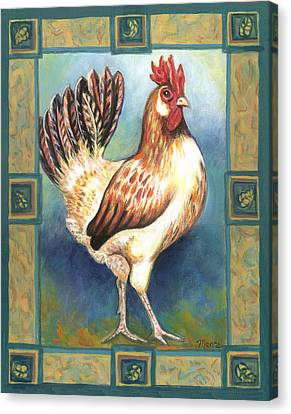 Billy The Rooster Canvas Print by Linda Mears