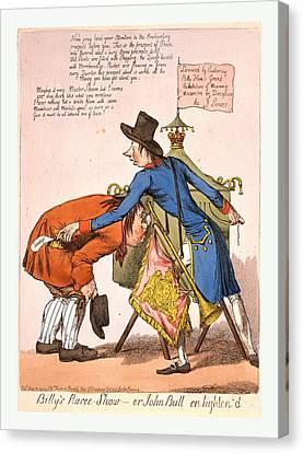 Billys Raree-show Or John Bull En Lightend, England Canvas Print by Litz Collection