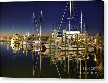 Biloxi Harbor Canvas Print
