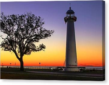 Biloxi Lighthouse Canvas Print by Brian Wright