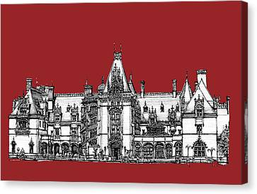 Biltmore Estate Red Canvas Print by Building  Art