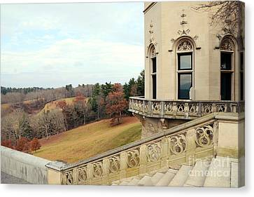 Biltmore Estates Garden Terrace Staircase View - Biltmore Autumn Fall Woodlands Canvas Print