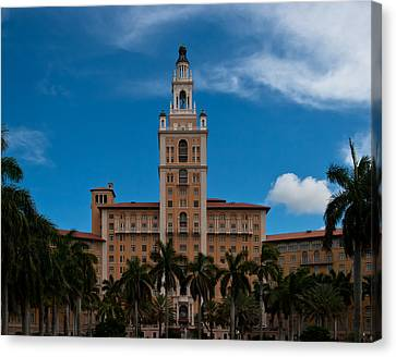 Biltmore Hotel Coral Gables Canvas Print by Ed Gleichman