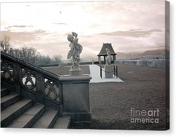 Biltmore House Italian Garden Sculpture Architecture Canvas Print by Kathy Fornal