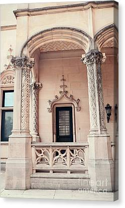 Biltmore Mansion Estate Windows And Doors - Biltmore Estates Italian Architecture Details  Canvas Print