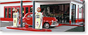 Burger Canvas Print - Bings Burger Station In Cottonwood by Panoramic Images
