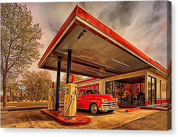 Bings Burger Station In Historic Old Town Cottonwood Arizona Canvas Print by Priscilla Burgers