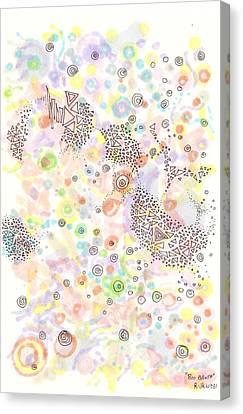 Disc Canvas Print - Bio Broth by Regina Valluzzi