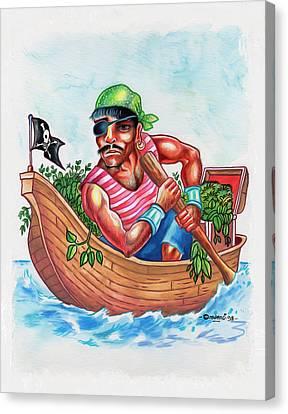 Bio-pirate Canvas Print by Anthony Mwangi