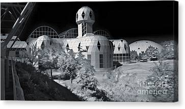 Biosphere2 - Black And White Canvas Print by Gregory Dyer