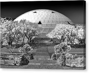 Biosphere2 - Dome Panorama Canvas Print by Gregory Dyer