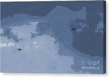 Biplane In Flight 2 Canvas Print