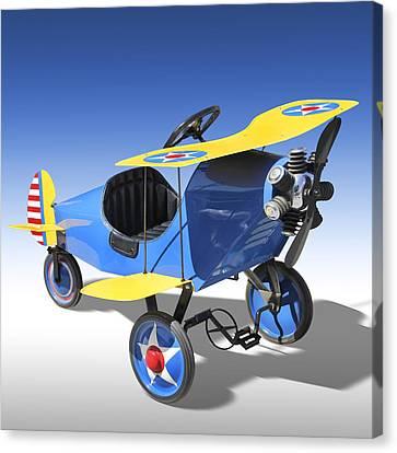 Biplane Peddle Car Canvas Print by Mike McGlothlen