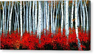 Birch 24 X 48  Canvas Print