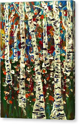 Birch Canvas Print by Branko Jovanovic