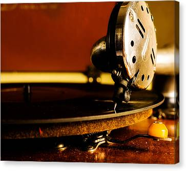 Birch Brothers Portable Phonograph Canvas Print by Jon Woodhams