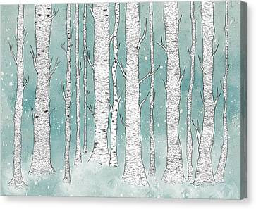 Birch Forest Canvas Print by Randoms Print