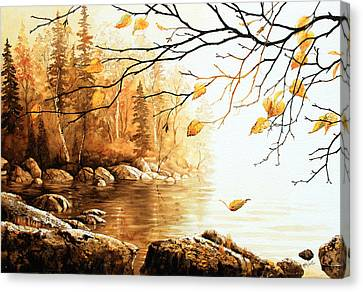 Birch Island Mist Canvas Print by Hanne Lore Koehler