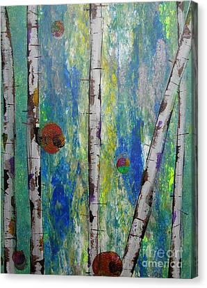 Birch - Lt. Green 4 Canvas Print