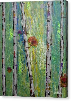 Birch - Lt. Green 5 Canvas Print
