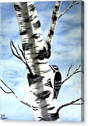 Birch Tree Canvas Print by Denise Tomasura