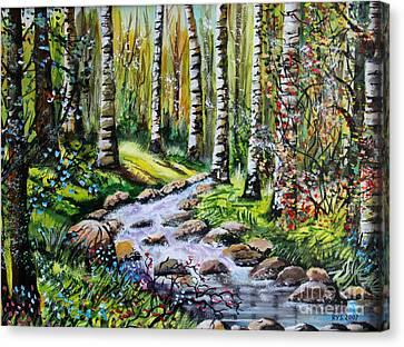 Birch Tree Heaven Canvas Print by Ryszard Sleczka