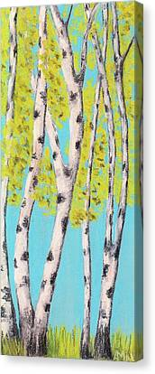 Birch Trees Canvas Print by Anastasiya Malakhova