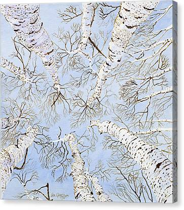 Birch Trees Canvas Print by Leo Gehrtz