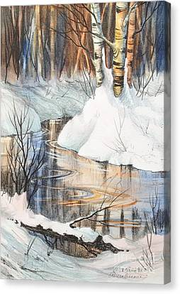 Birch Trio II Canvas Print by Teresa Ascone