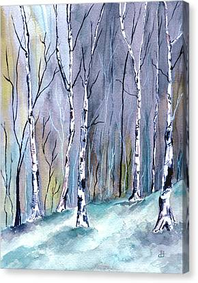 Birches In The Forest Canvas Print
