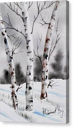 Birches Canvas Print by Mohamed Hirji