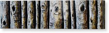 Birches Standing Before You Canvas Print by Lori McPhee