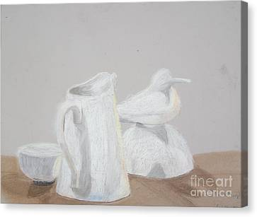Bird And Pitcher Canvas Print by Christopher Murphy