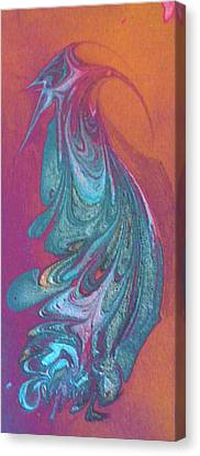 Canvas Print featuring the painting Bird Dance by Mike Breau