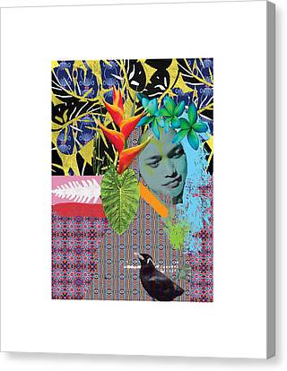 Bird Dreaming Of A Woman Canvas Print by Jonathan Benitez