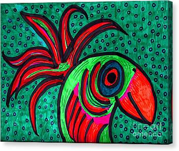 Bird Elegance Canvas Print by Sarah Loft