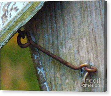 Bird Feeder Locked Memory Canvas Print